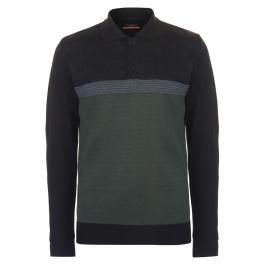 Pierre Cardin Striped Knitted Polo Mens