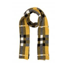 Trendyol Yellow Grid-Patterned Scarf