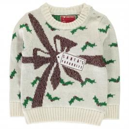 Star Christmas Knitted Jumper Infant Girls