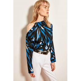 Trendyol Blue Button Detailed Blouses